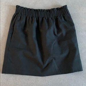 Jcrew black classic mini skirt!